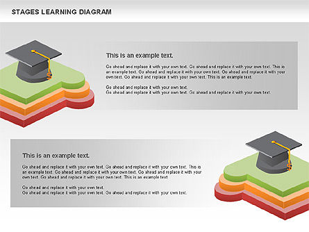 Stages of Learning Diagram, Slide 10, 01136, Stage Diagrams — PoweredTemplate.com