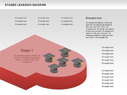 Stages of Learning Diagram, Slide 4, 01136, Stage Diagrams — PoweredTemplate.com