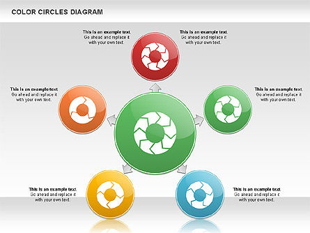 Rotating Circles Process Diagram, 01138, Process Diagrams — PoweredTemplate.com