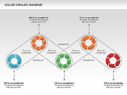 Rotating Circles Process Diagram, Slide 11, 01138, Process Diagrams — PoweredTemplate.com
