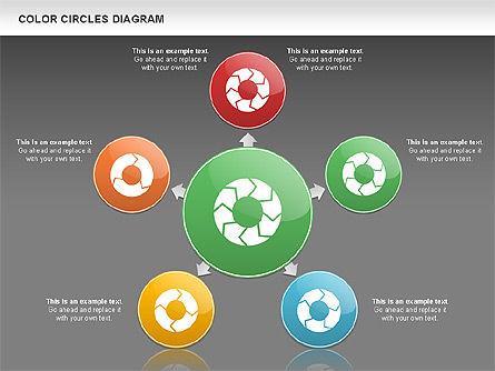 Rotating Circles Process Diagram, Slide 12, 01138, Process Diagrams — PoweredTemplate.com