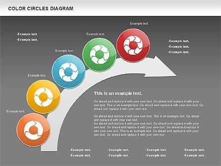 Rotating Circles Process Diagram, Slide 13, 01138, Process Diagrams — PoweredTemplate.com