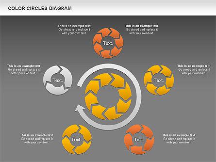 Rotating Circles Process Diagram, Slide 14, 01138, Process Diagrams — PoweredTemplate.com