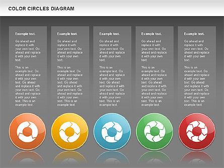 Rotating Circles Process Diagram, Slide 15, 01138, Process Diagrams — PoweredTemplate.com