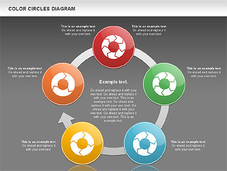 Rotating Circles Process Diagram, Slide 16, 01138, Process Diagrams — PoweredTemplate.com