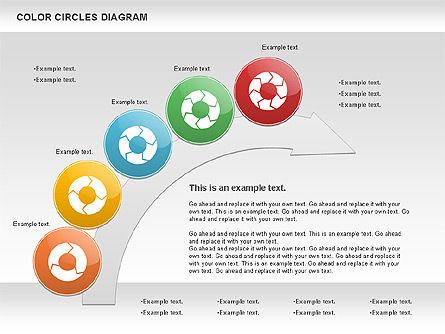 Rotating Circles Process Diagram, Slide 2, 01138, Process Diagrams — PoweredTemplate.com
