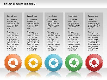 Rotating Circles Process Diagram, Slide 4, 01138, Process Diagrams — PoweredTemplate.com