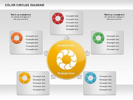 Rotating Circles Process Diagram, Slide 6, 01138, Process Diagrams — PoweredTemplate.com