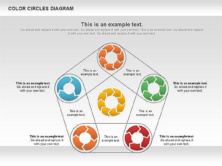 Rotating Circles Process Diagram, Slide 7, 01138, Process Diagrams — PoweredTemplate.com