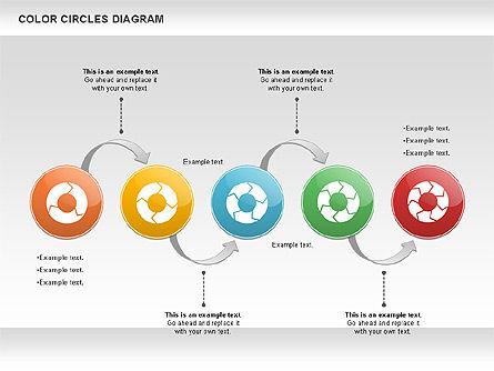 Rotating Circles Process Diagram, Slide 8, 01138, Process Diagrams — PoweredTemplate.com