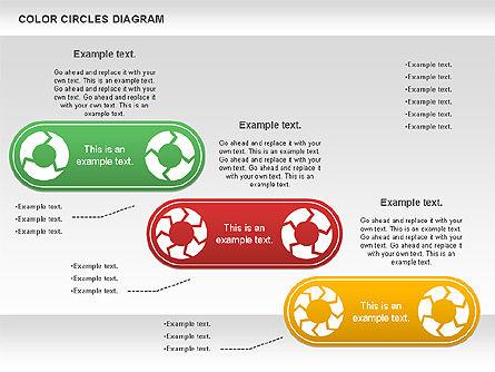 Rotating Circles Process Diagram, Slide 9, 01138, Process Diagrams — PoweredTemplate.com
