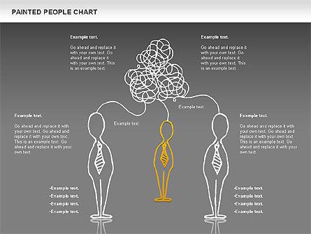 People Chat Shapes, Slide 12, 01139, Shapes — PoweredTemplate.com