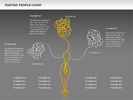 People Chat Shapes, Slide 13, 01139, Shapes — PoweredTemplate.com