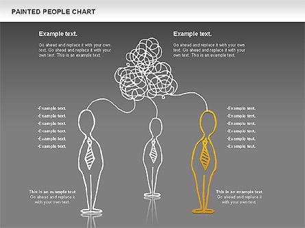 People Chat Shapes, Slide 15, 01139, Shapes — PoweredTemplate.com