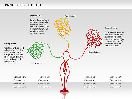 People Chat Shapes, Slide 2, 01139, Shapes — PoweredTemplate.com