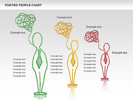 People Chat Shapes, Slide 8, 01139, Shapes — PoweredTemplate.com
