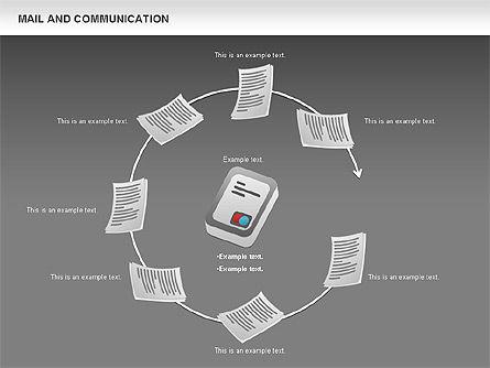 Document Workflow Diagram, Slide 14, 01140, Process Diagrams — PoweredTemplate.com