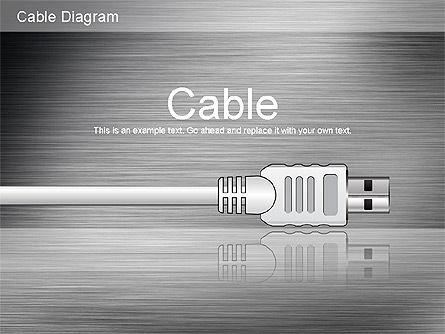 Cable Connections Diagram, Slide 12, 01142, Business Models — PoweredTemplate.com