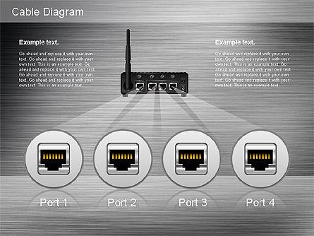 Cable Connections Diagram, Slide 14, 01142, Business Models — PoweredTemplate.com