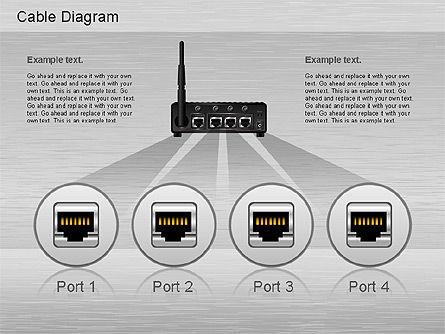 Cable Connections Diagram, Slide 3, 01142, Business Models — PoweredTemplate.com