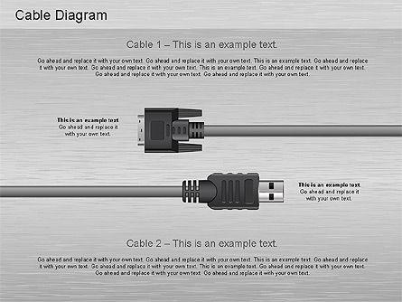Cable Connections Diagram, Slide 4, 01142, Business Models — PoweredTemplate.com