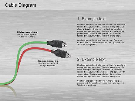 Cable Connections Diagram, Slide 7, 01142, Business Models — PoweredTemplate.com
