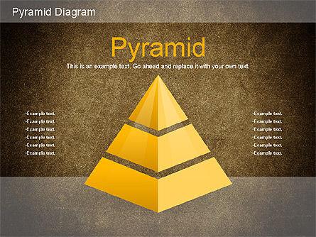 Layered Pyramid Diagram, Slide 12, 01143, Business Models — PoweredTemplate.com