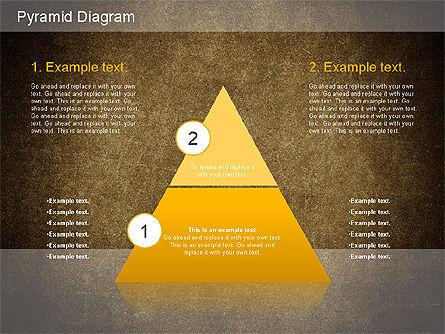 Layered Pyramid Diagram, Slide 13, 01143, Business Models — PoweredTemplate.com