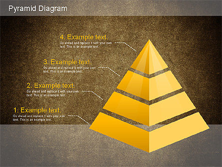 Layered Pyramid Diagram, Slide 14, 01143, Business Models — PoweredTemplate.com