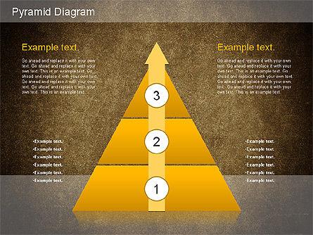 Layered Pyramid Diagram, Slide 15, 01143, Business Models — PoweredTemplate.com