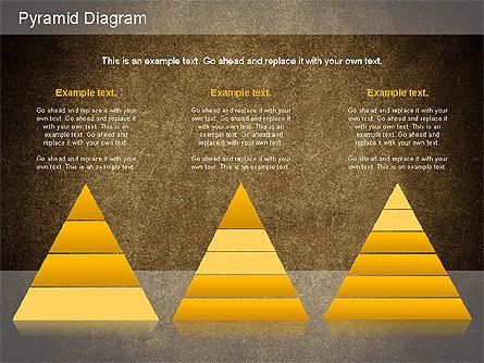 Layered Pyramid Diagram, Slide 16, 01143, Business Models — PoweredTemplate.com