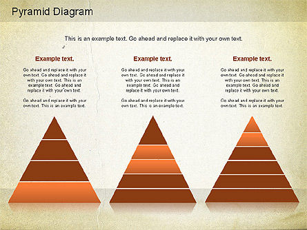 Layered Pyramid Diagram, Slide 5, 01143, Business Models — PoweredTemplate.com