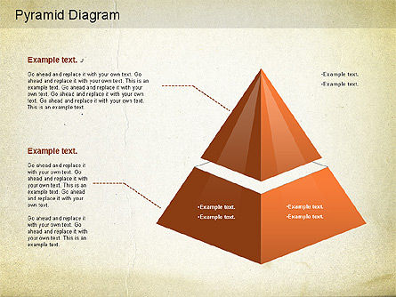 Layered Pyramid Diagram, Slide 6, 01143, Business Models — PoweredTemplate.com