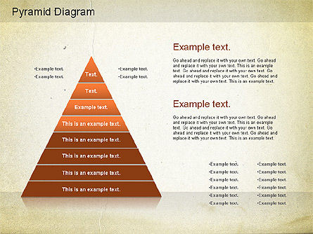 Layered Pyramid Diagram, Slide 7, 01143, Business Models — PoweredTemplate.com