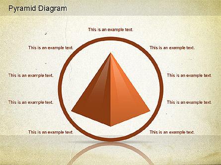 Layered Pyramid Diagram, Slide 8, 01143, Business Models — PoweredTemplate.com