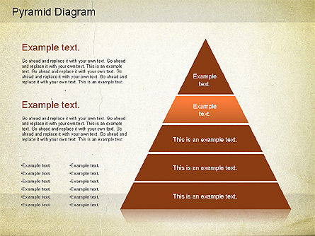 Layered Pyramid Diagram, Slide 9, 01143, Business Models — PoweredTemplate.com