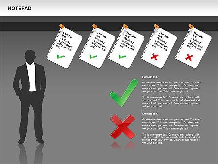 Notepad Diagram, Slide 11, 01144, Shapes — PoweredTemplate.com