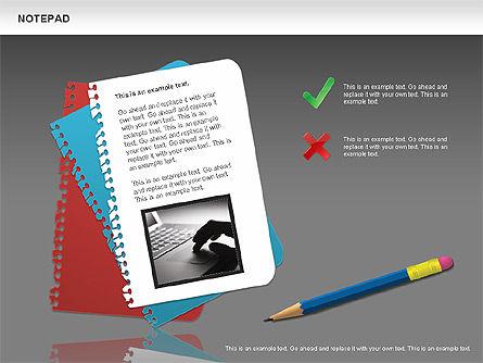Notepad Diagram, Slide 12, 01144, Shapes — PoweredTemplate.com