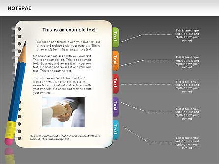 Notepad Diagram, Slide 13, 01144, Shapes — PoweredTemplate.com