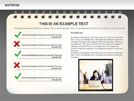 Notepad Diagram, Slide 14, 01144, Shapes — PoweredTemplate.com