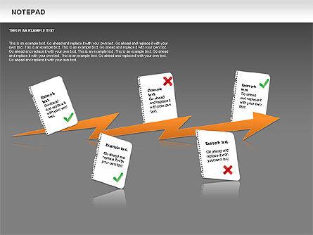 Notepad Diagram, Slide 15, 01144, Shapes — PoweredTemplate.com