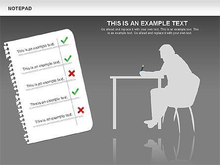 Notepad Diagram, Slide 16, 01144, Shapes — PoweredTemplate.com