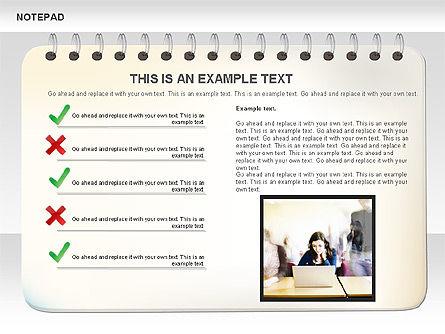 Notepad Diagram, Slide 5, 01144, Shapes — PoweredTemplate.com