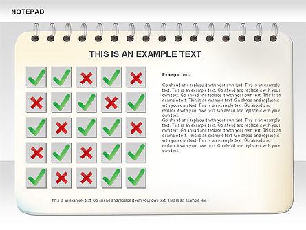 Notepad Diagram, Slide 6, 01144, Shapes — PoweredTemplate.com