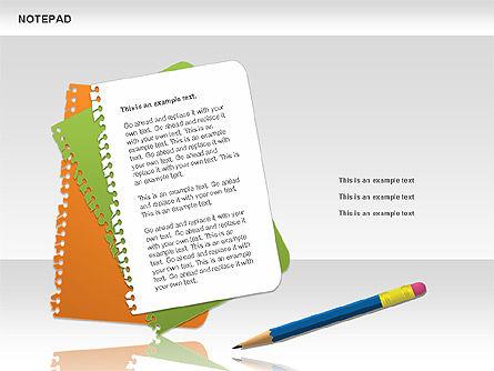 Notepad Diagram, Slide 8, 01144, Shapes — PoweredTemplate.com