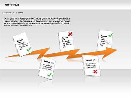 Notepad Diagram, Slide 9, 01144, Shapes — PoweredTemplate.com