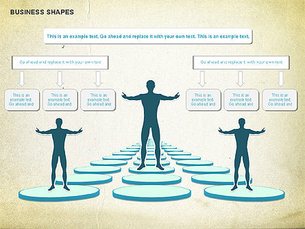 Business Report Shapes, Slide 2, 01145, Business Models — PoweredTemplate.com