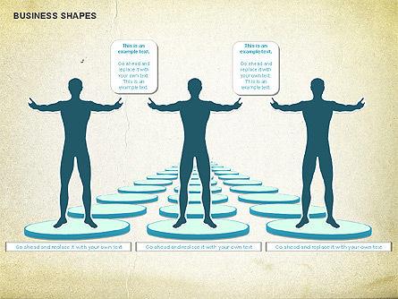 Business Report Shapes, Slide 4, 01145, Business Models — PoweredTemplate.com