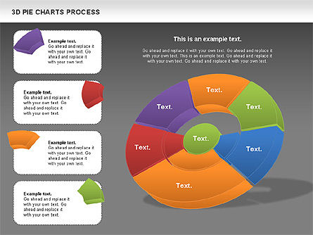 Donut Pie Chart, Slide 14, 01147, Pie Charts — PoweredTemplate.com