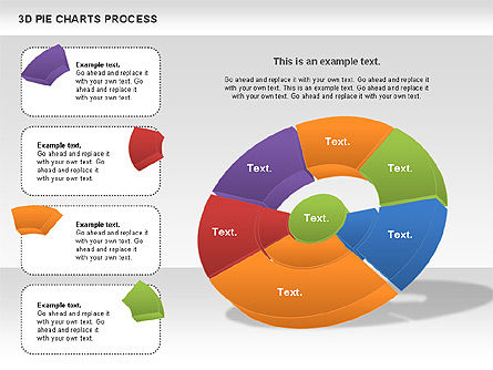 Donut Pie Chart, Slide 3, 01147, Pie Charts — PoweredTemplate.com
